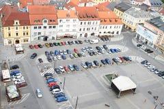 Quadrat in Klatovy Stockfotografie