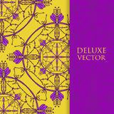 Quadrat laden Schablone ein Vektoreinladung mit Mandalagestaltungselement Runde Blumenverzierung Dekorativer Weinlesedruck Luxus- Stockfoto