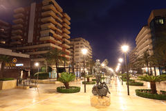 Quadrat in Marbella nachts. Spanien Stockfoto