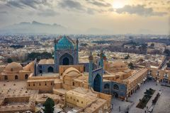 Quadrat Naqsh-e Jahan in Isfahan, der Iran, eingelassenes Januray 2019 eingelassenes hdr stockfotografie