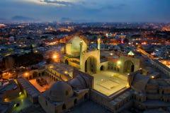 Quadrat Naqsh-e Jahan in Isfahan, der Iran, eingelassenes Januray 2019 eingelassenes hdr lizenzfreie stockfotos