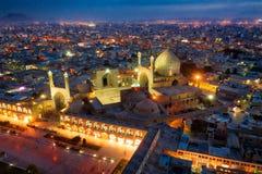 Quadrat Naqsh-e Jahan in Isfahan, der Iran, eingelassenes Januray 2019 eingelassenes hdr lizenzfreies stockbild