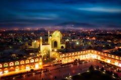 Quadrat Naqsh-e Jahan in Isfahan, der Iran, eingelassenes Januray 2019 eingelassenes hdr stockbilder