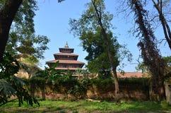 Quadrat Nepal Patan Durbar stockbild