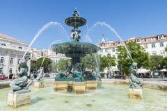 Quadrat Pedro-IV, Lissabon Stockfotografie