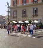 Quadrat Plebiscito s, Neapel - Italien Lizenzfreies Stockfoto