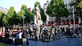 Quadrat Rembrandtplein Rembrandt, Amsterdam, die Niederlande, stock video footage