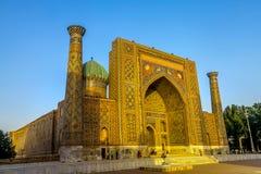 Quadrat 25 Samarkands Registon stockfoto
