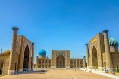 Quadrat 34 Samarkands Registon lizenzfreies stockbild