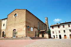 Quadrat in San Gimignano, Italien Stockbild