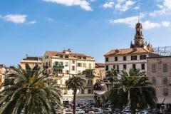 Quadrat in Sanremo, Italien stockfotos