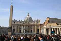 Quadrat St Peter s, Marktplatz San Pietro, Vatikanstadt Lizenzfreie Stockbilder