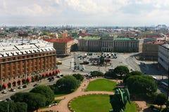 Quadrat Str.-Isaac in St Petersburg Stockfotos