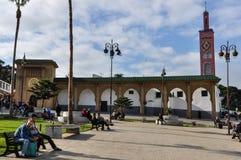 Quadrat in Tanger-Stadt, Marokko lizenzfreie stockfotografie