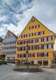 Quadrat in Tubingen, Deutschland Stockbild
