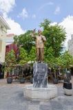 Quadrat- und Gassenweisen in Willemstad in Curaçao stockfotos