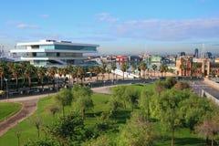 Quadrat- und Stadtstraßen Valencia, Spanien Lizenzfreie Stockfotos