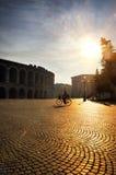 Quadrat in Verona lizenzfreie stockfotografie