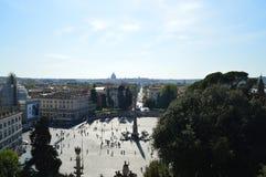 Quadrat von Leuten, Rom Stockfoto