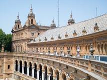 Quadrat von Spanien in Sevilla Lizenzfreie Stockfotografie