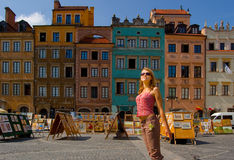 Quadrat von Warschau stockbilder