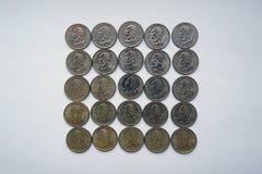 Quadrat von ` Washington Quarter-` - Vierteldollar Lizenzfreies Stockbild
