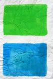 Quadrate der blauen und grünen Farben Lizenzfreie Stockfotografie