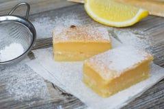 Quadrate der süßen Zitrone Lizenzfreie Stockfotos