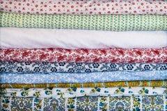 Quadrate des gemalten dekorativen Stoffes Stockfoto
