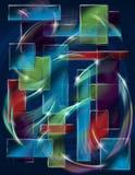 Quadrate farbige Beschaffenheit Lizenzfreie Stockbilder