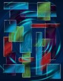 Quadrate farbiges Muster Stockbild