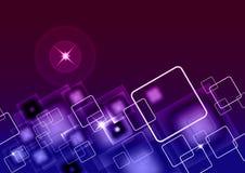 Quadrate - Geschäfts-Hintergrund - stilvolle moderne Visitenkarte Stockfoto