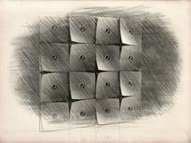 Quadrate und Kreise stock abbildung