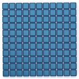 Quadratgoldblaues Mosaikglasmuster der Wiedergabe 3D Lizenzfreies Stockbild