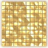 Quadratgoldmosaikmuster der Wiedergabe 3D Stockfotografie