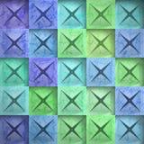 Quadrati astratti della pietra del fondo Fotografie Stock Libere da Diritti