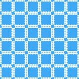 Quadrati bianchi sul modello geometrico del fondo blu illustrazione vettoriale