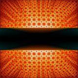 Quadrati con il burst del chiarore del fuoco rosso. ENV 8 Fotografia Stock