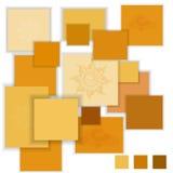 Quadrati con le ombre della colata Fotografia Stock