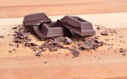 Quadrati del cioccolato immagini stock