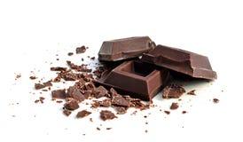 Quadrati del cioccolato fotografia stock