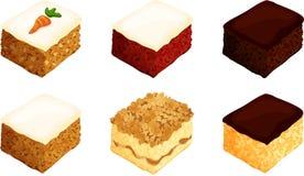 Quadrati del dolce Immagini Stock Libere da Diritti