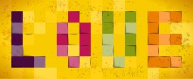 Quadrati del fondo di carta Immagini Stock
