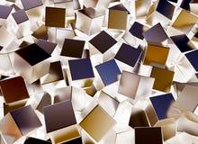 Quadrati del metallo Immagini Stock