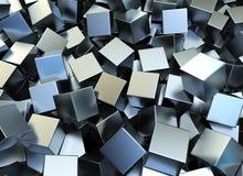 Quadrati del metallo Fotografia Stock Libera da Diritti