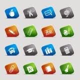 Quadrati del taglio - icone del banco Fotografie Stock