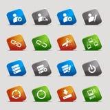 Quadrati del taglio - icone del Internet e di Web site Fotografia Stock