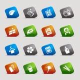 Quadrati del taglio - icone di pulizia Immagine Stock
