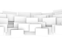 Quadrati dello spazio in bianco 3d di Digital Fotografia Stock Libera da Diritti