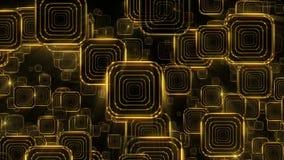 Quadrati di caduta dorati illustrazione di stock